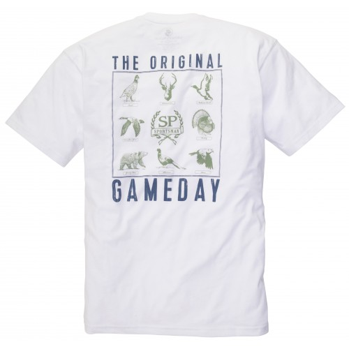 The Original Gameday Tee: White Short Sleeve
